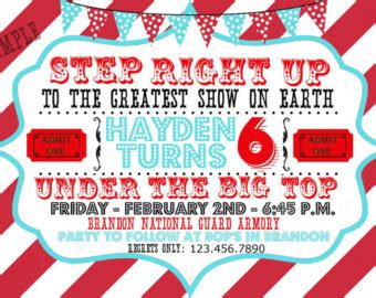 carnival themed birthday invitation templates free carnival birthday invitations template best template collection
