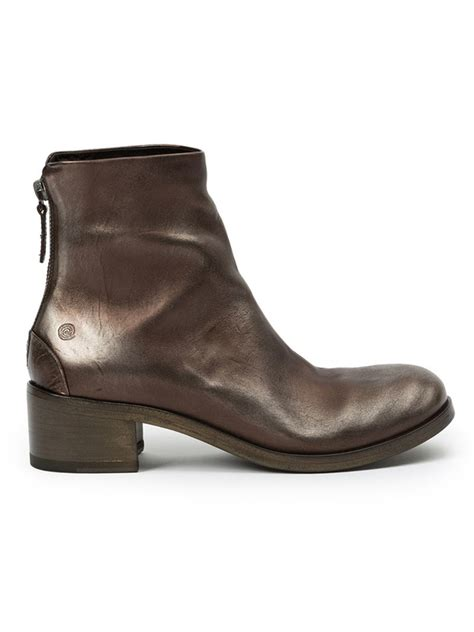 metallic boots mars 232 ll metallic ankle boots in brown lyst