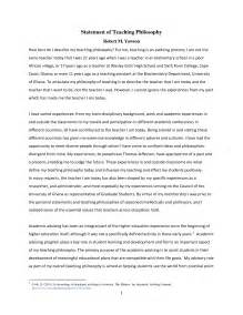 Teaching Philosophy Template statement of teaching philosophy exle best template collection