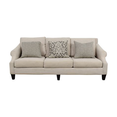 couch to go 59 off rooms to go rooms to go off beige three cushion