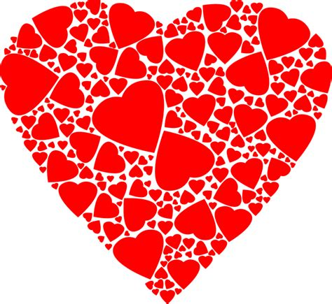 image with hearts free vector graphic fractal
