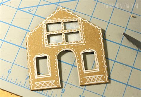 how to change house windows tiny cardboard gingerbread houses little red window