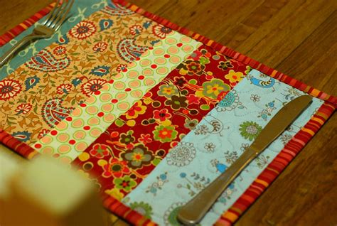 Fabric Place Mats it s all about the gorgeous fabric a handmade