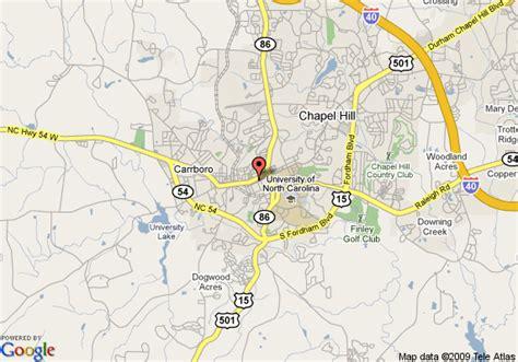 carolina map chapel hill map of the franklin hotel chapel hill