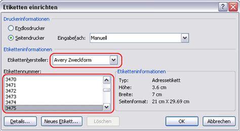 Word Vorlage Zweckform 3475 Serienbrief Etiketten In Word 2007 Erstellen Cammablog