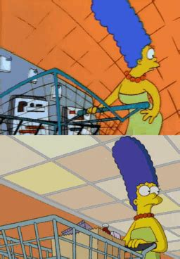 and new simpsons checkout gags compared which is better the sue