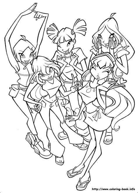 colouring pages the winx club fan art 23364740 fanpop