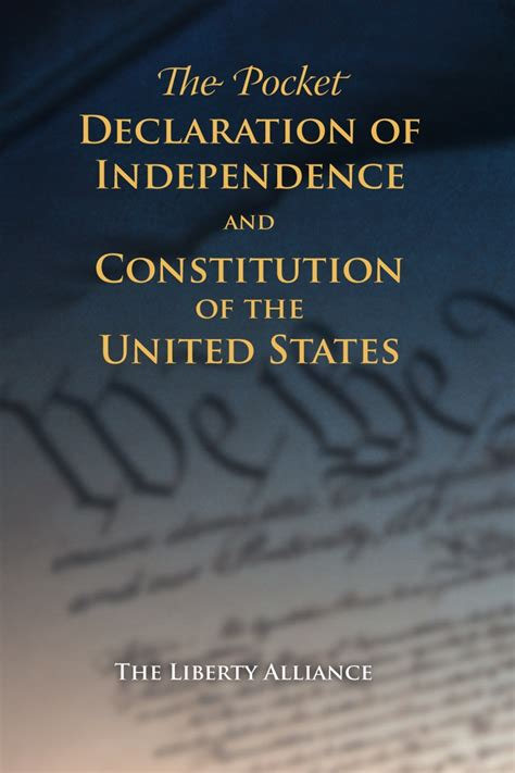 the declaration of independence and the constitution of the united states of america books pocket declaration of independence and constitution of us