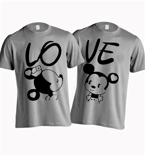 Same Tees For Couples Trendz Printed S Neck Grey T Shirt Buy
