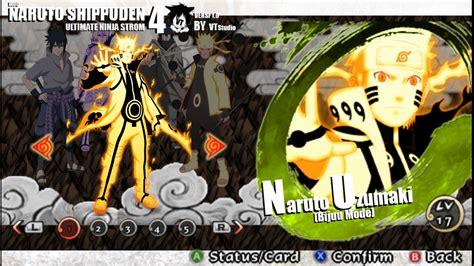 download game naruto ppsspp mod naruto shippuden ultimate ninja storm 4 mod textures