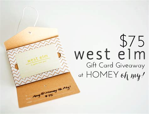 West Elm Gift Card - new blog design giveaway homey oh my