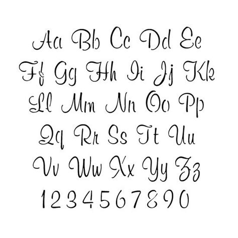 lettering templates fonts 25 best ideas about alphabet stencils on d
