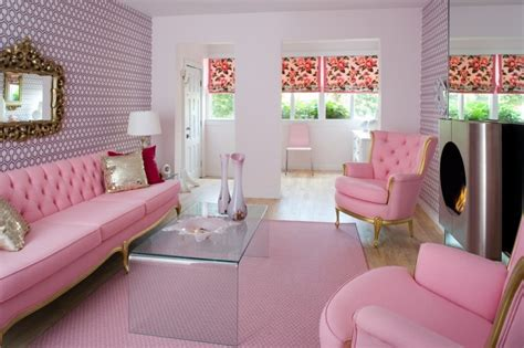 pink living room furniture beautiful pink decoration