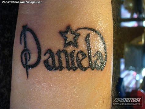tatuaje de nombres letras daniela