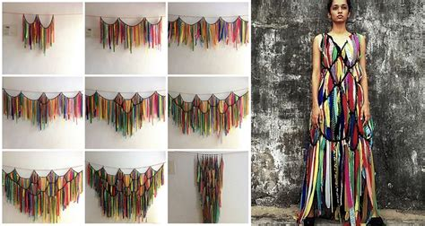 waste fabric curtains  transform  dresses