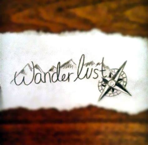 wanderlust tattoo designs wanderlust design
