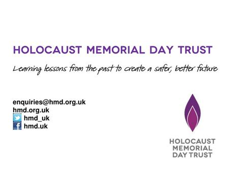 the holocaust the genocides holocaust memorial day trust ppt holocaust memorial day trust learning lessons from the past to create a safer better
