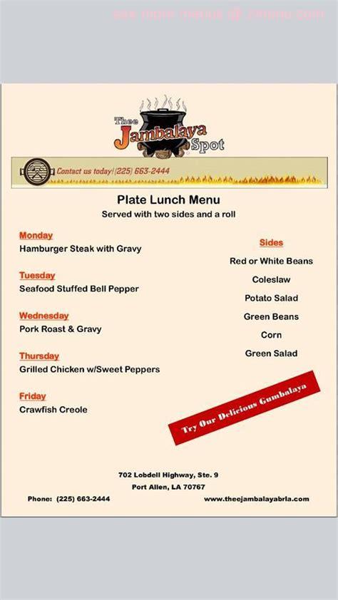 waffle house port allen online menu of thee jambalaya spot restaurant port allen louisiana 70767 zmenu