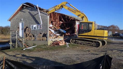 boat house 19 boathouse demolition november 19 2014 youtube