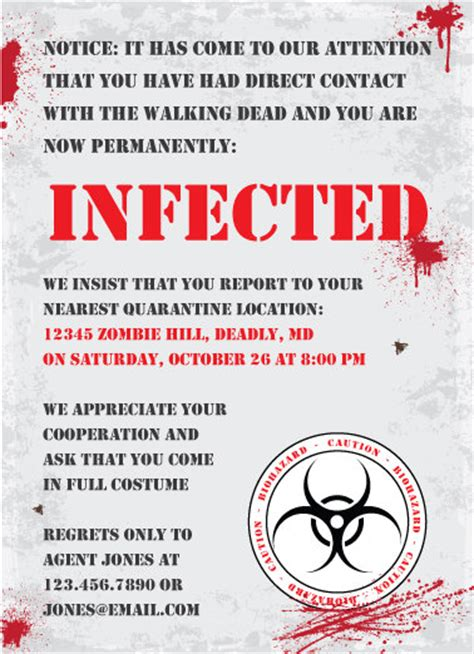 printable zombie birthday cards printable zombie invitations for a teen zombie party omg