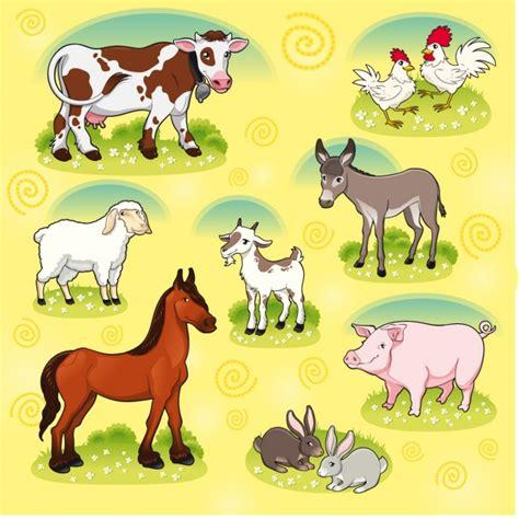 plantillas de animalitos de granja para hacerlos en colecci 243 n de animales de granja descargar vectores gratis