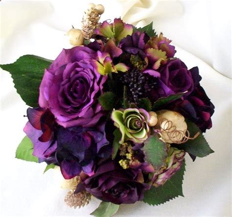 Bokay Of Flowers For Wedding by Plum Bridal Bouquet Silk Wedding Flowers Radiant Orchid Purple