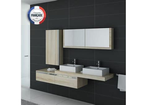 Meuble scandinave pour salle de bain 2 vasques, meuble