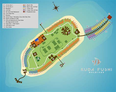 mikes resort dive map kudafushi just a small paradise resort raa atoll of