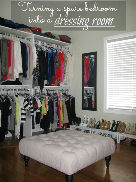 how to turn a small bedroom into a dressing room turning a spare bedroom into a dressing room