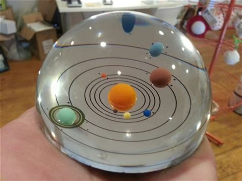solar system handmade dome paperweight