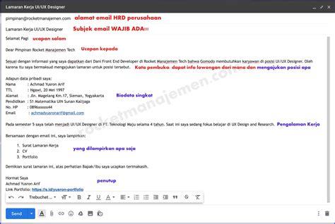 contoh cv surat lamaran kerja  email suratlamarancom