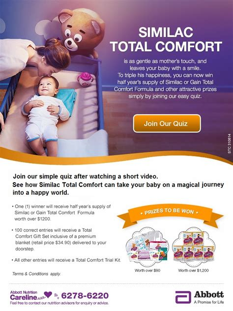 similac total comfort singapore join our simple quiz stand to win half year s supply of