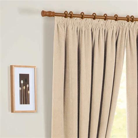 lined curtains chenille spot thermal pencil pleat lined curtains ebay