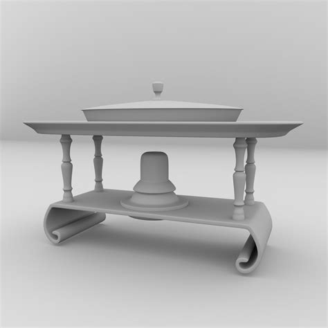 dish stand chafing dish stand 3d model 3ds fbx blend dae cgtrader