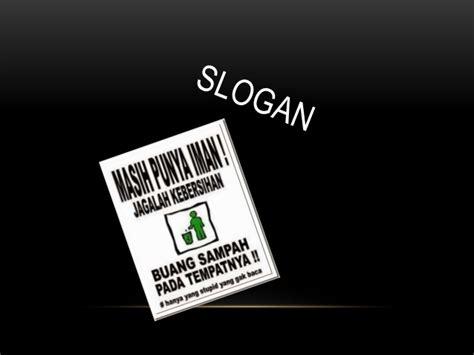 iklan poster  slogan