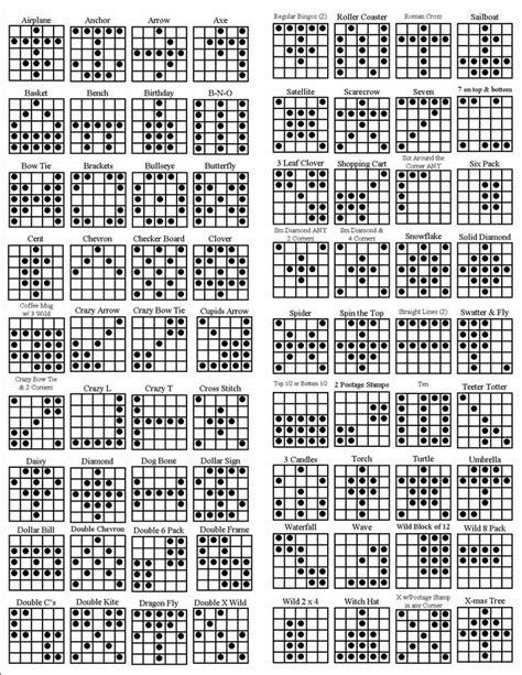 pattern of three exles 7 best images of printable bingo pattern exles
