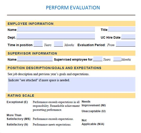 Performance Evaluation 9 Download Free Documents In Pdf Word Retail Performance Review Template