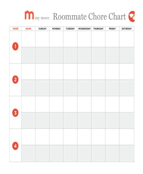 Household Chore Chart Template by 7 Printable Chore Chart Free Pdf Documents