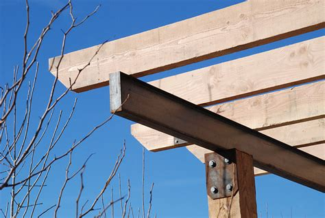 black pergola hardware 1000 images about landscape on bocce court corten steel and steel