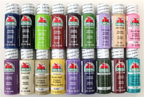 plaid promoabii apple barrel acrylic paint 2 ounce best selling colors ii ne ebay
