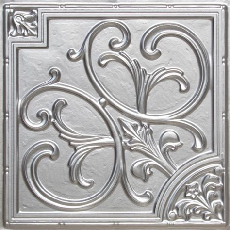 Decorative Metal Ceiling Tiles by 204 Faux Tin Ceiling Tile Glue Up 24x24 Ceiling Tile