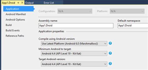 xamarin layout resource could not be found xamarin android targeting android 4 4 throws error no
