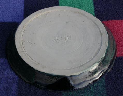 teller aus ton flohmarkt porzellan keramik steingut ton