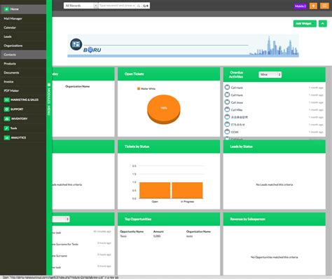 bootstrap themes crm vtiger twitter bootstrap templates boru apps