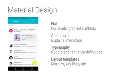 material design font roboto introduction to android app development