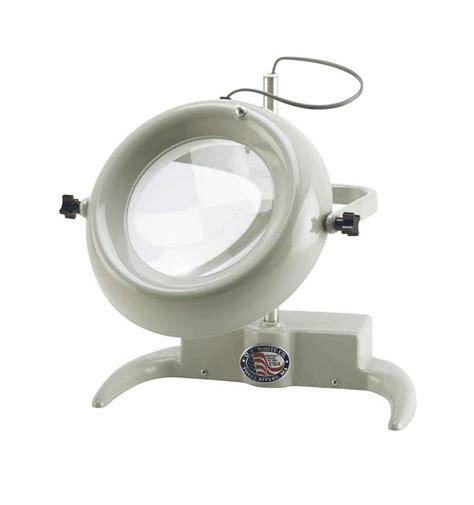 illuminated bench magnifier large diameter illuminated benchtop magnifier 2x