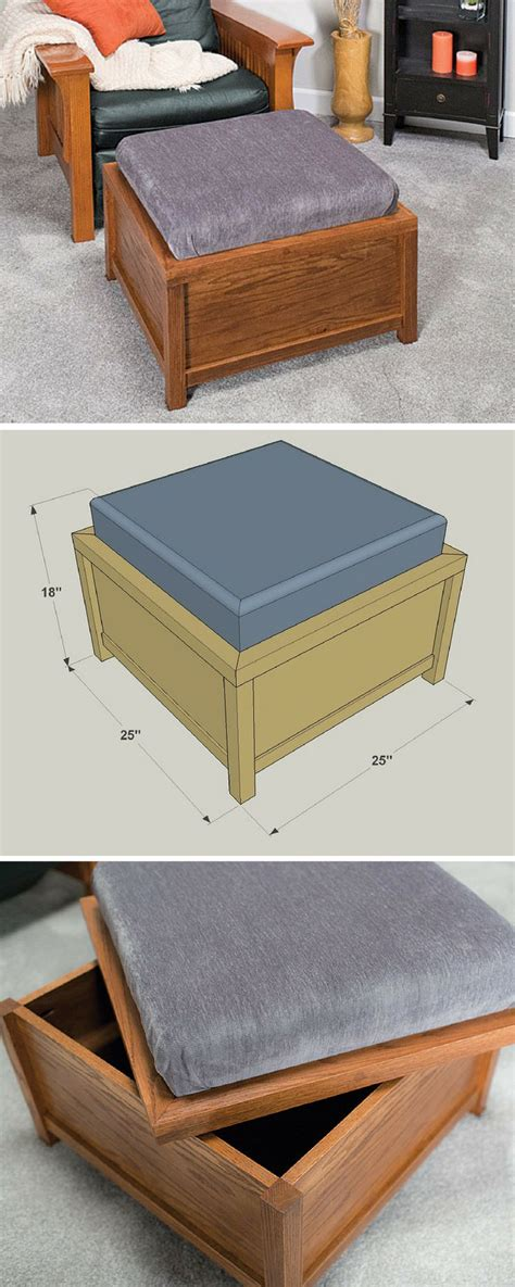 how to build an ottoman 25 best ideas about storage ottoman coffee table on
