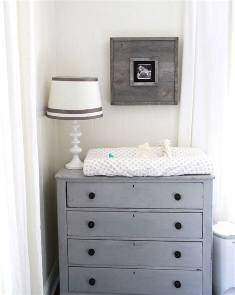 Grey Changing Table Dresser Gray And White Gender Neutral Nursery Tour Project Nursery