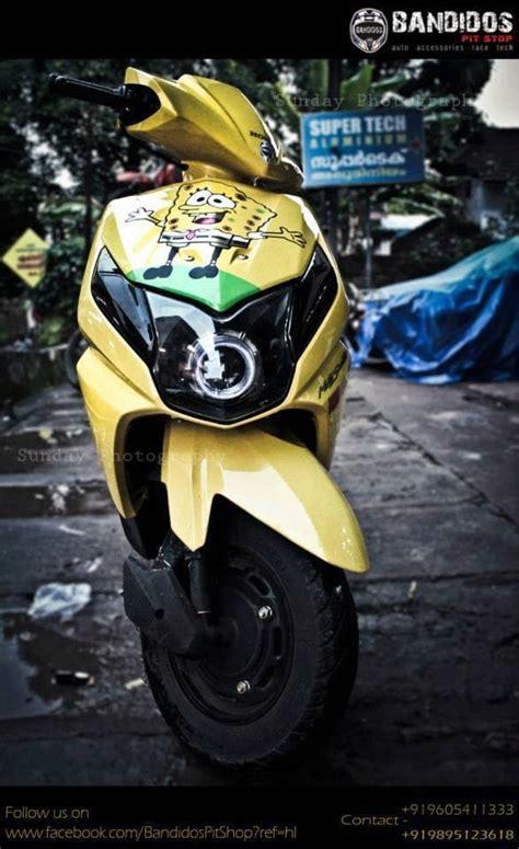 Modification Honda Dio by Honda Dio Modified In Yellow