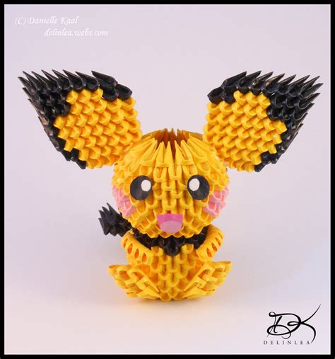 Origami Raichu - pichu diagram 3d origami by delinlea on deviantart